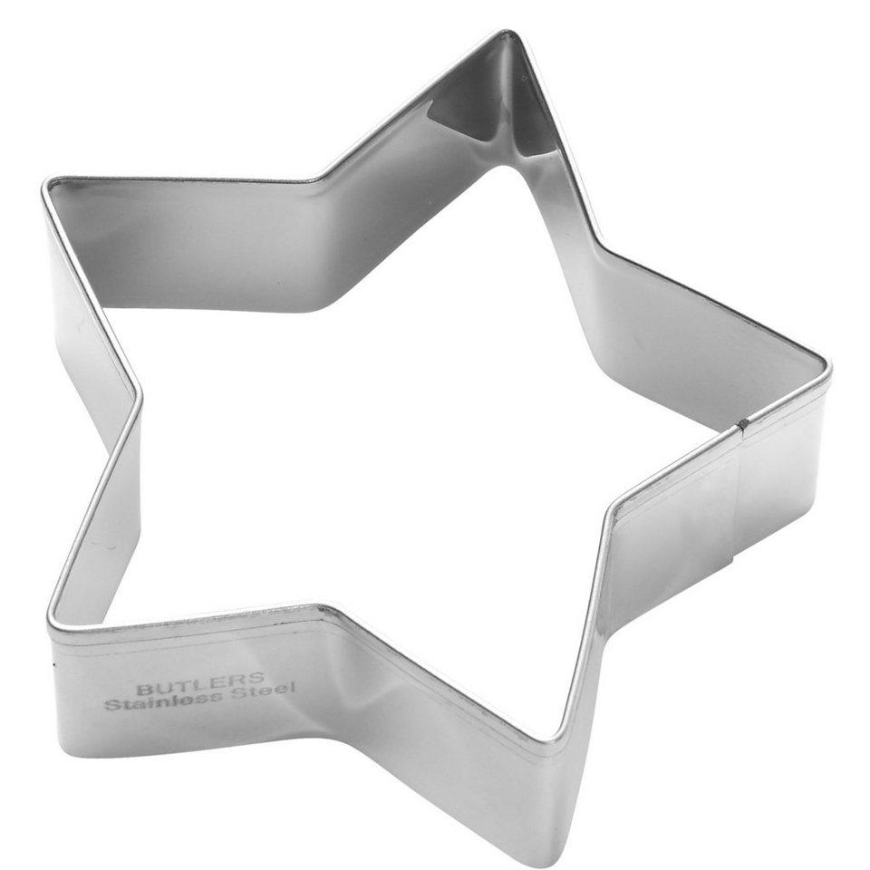 BUTLERS BISCUIT »Ausstechform Stern« in silber