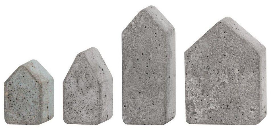 """Gießform """"4 Häuser"""", ca. 5,5 - 10,5 cm"""