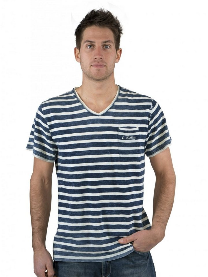 Chillaz T-Shirt »V-Neck Crew T-Shirt Men« in blau