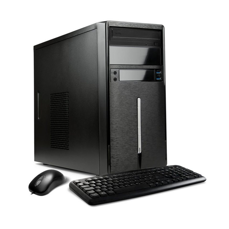 VCM Multimedia PC AMD A6 6420K / »8 GB DDR3, 2TB, Windows 10« in Stahl
