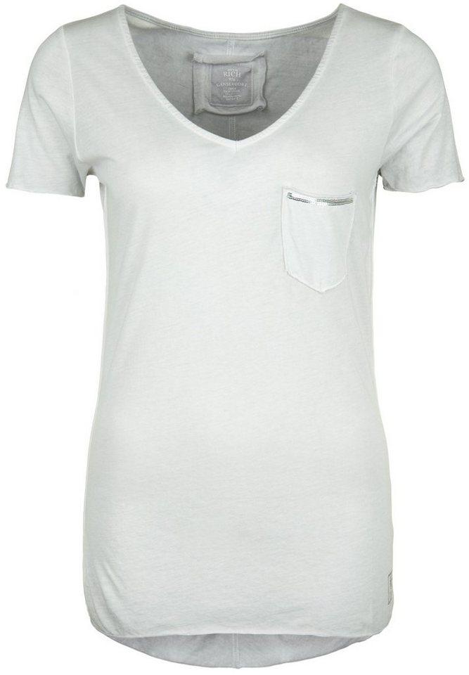 Better Rich T-Shirt »V-NECK POCKET PAILLETTE« in vapor