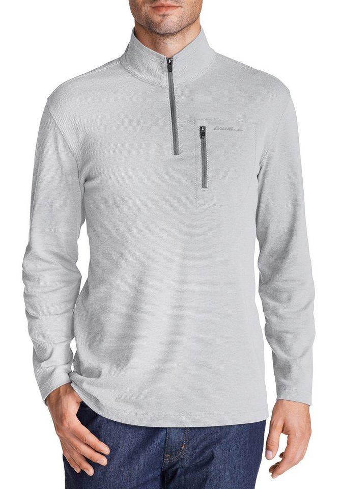 Eddie Bauer Leichtes Sweatshirt mit Reißverschluss in Grau