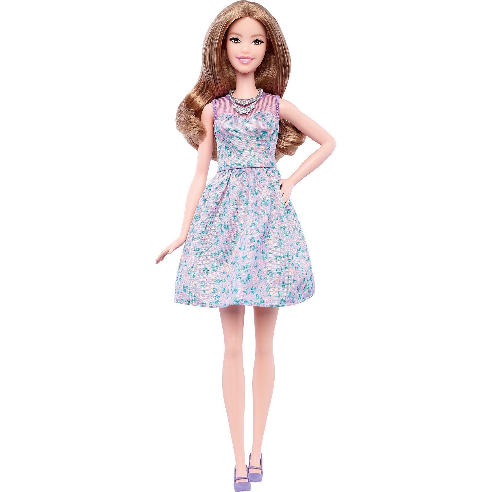 Mattel Barbie Fashionistas Puppe im helllilafarbenen Kleid