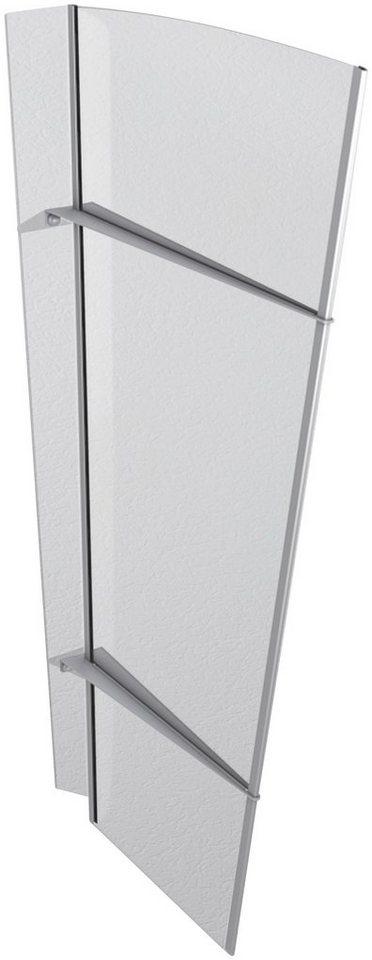 GUTTA Seitenblende »XL Edelstahl«, TxH: 55-85x167 cm, klar | Baumarkt > Modernisieren und Baün > Fenster | GUTTA