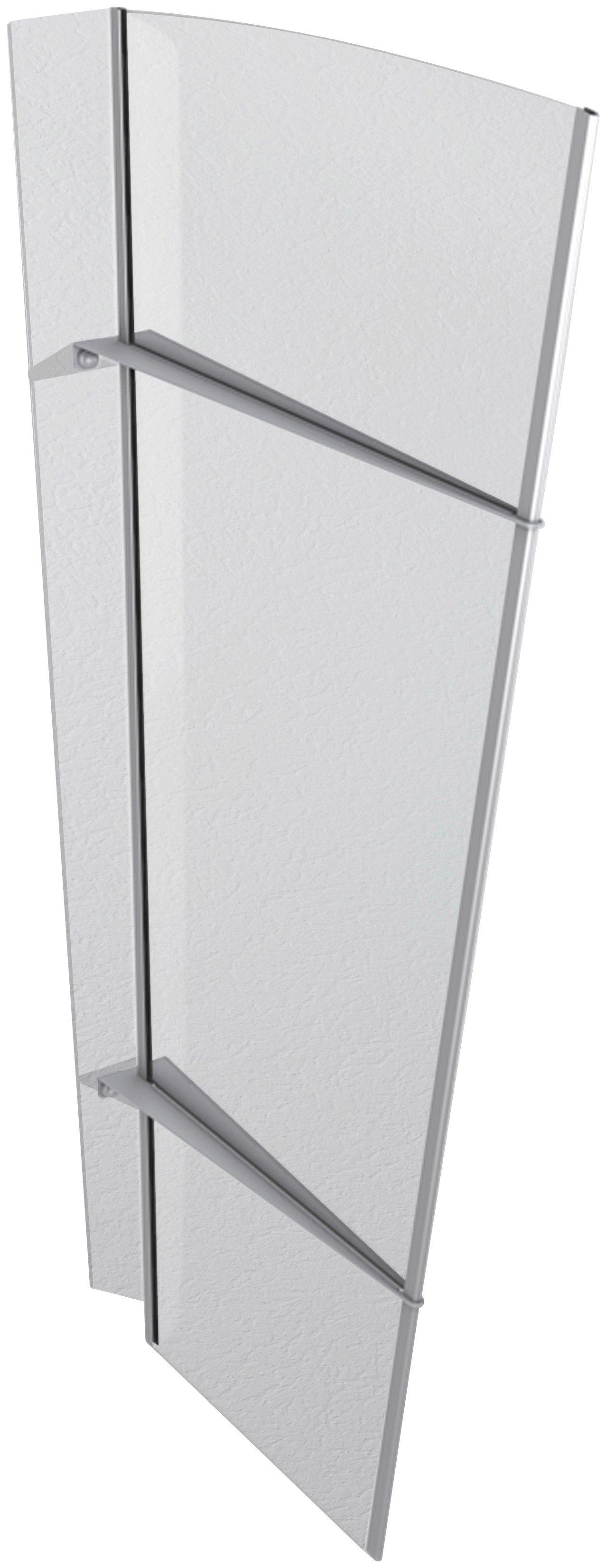 Gutta Seitenteile für Vordächer »XL Edelstahl«, BxH: 85x167 cm, silberfarben/transparent