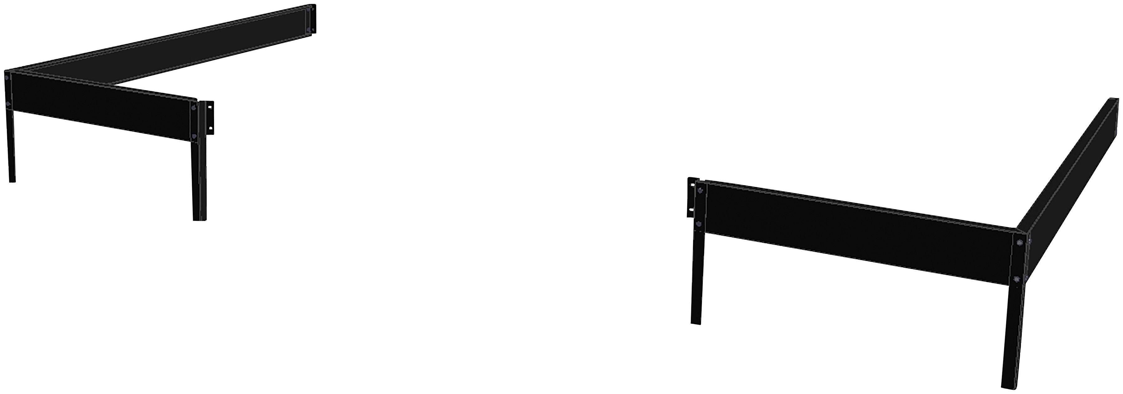 JULIANA Fundamentrahmen , BxL: 296x149 cm, für Gewächshaus »Veranda 4,4« schwarz