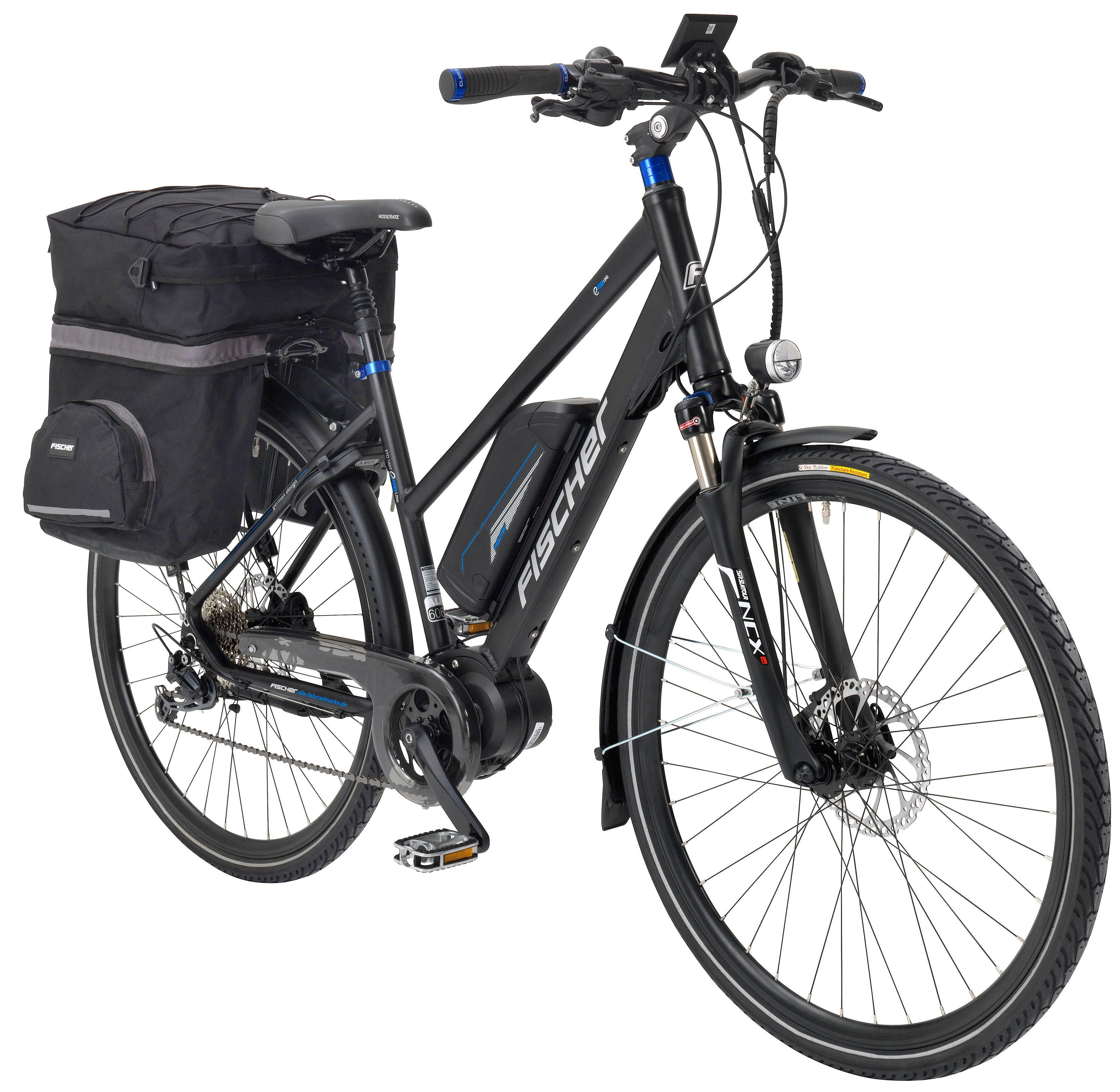FISCHER FAHRRAEDER E-Bike Trekking Damen »ETD 1607-S2 by Joey Kelly«, 28 Zoll, 9 Gang, Mittelmotor