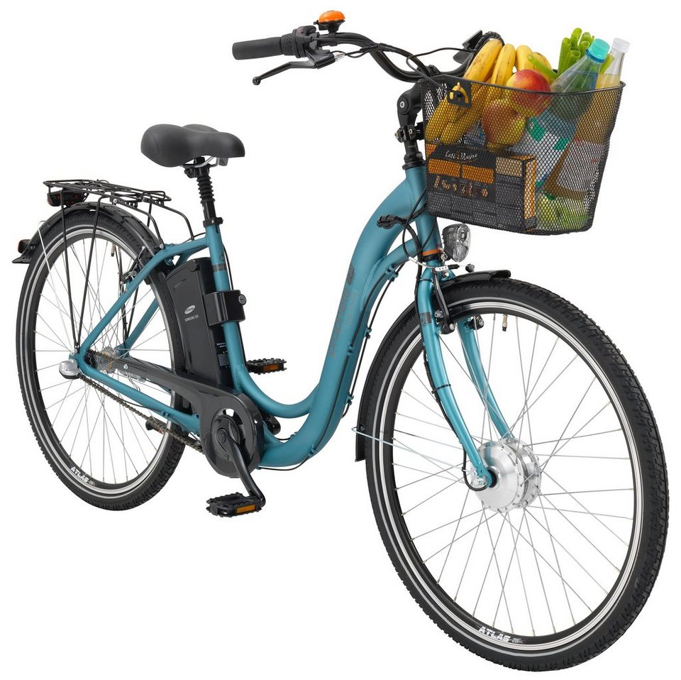 prophete e bike city damen navigator 730 26 28 zoll 3 gang frontmotor 250 wh online kaufen. Black Bedroom Furniture Sets. Home Design Ideas
