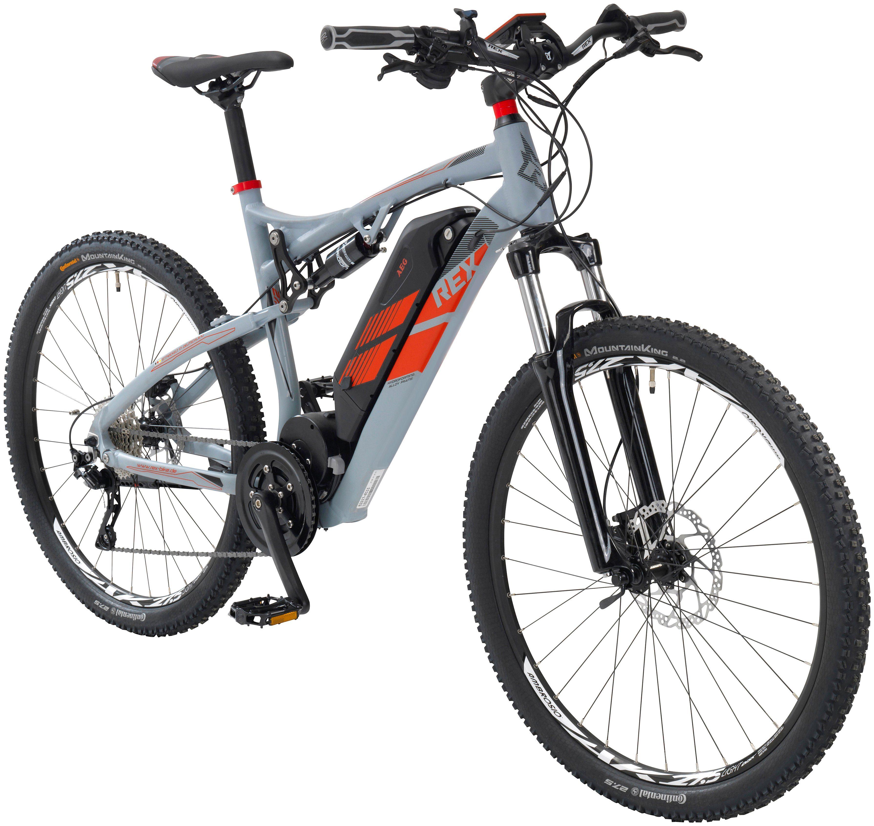 REX E-Bike Mountainbike , 27,5 Zoll, 10 Gang, Mittelmotor, 500 Wh