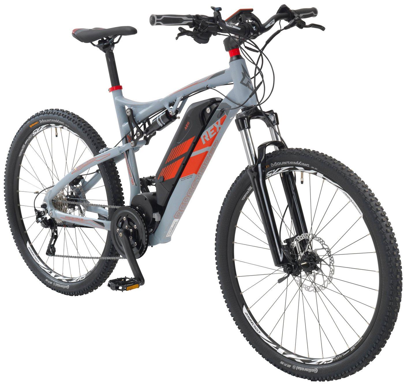 Schipkau Angebote REX E-Bike Mountainbike »Bergsteiger 790«, 27,5 Zoll, 10 Gang, Mittelmotor, 500 Wh
