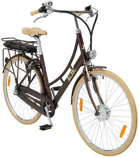 llobe e bike hollandrad haamstede 28 zoll 3 gang frontmotor 374 wh online kaufen otto. Black Bedroom Furniture Sets. Home Design Ideas