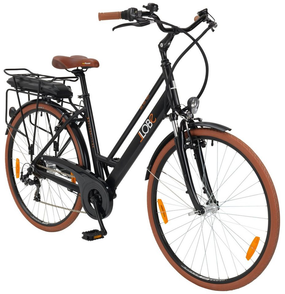 llobe e bike city damen metropolitan lady 28 zoll 7 gang heckmotor 375 wh online kaufen otto. Black Bedroom Furniture Sets. Home Design Ideas