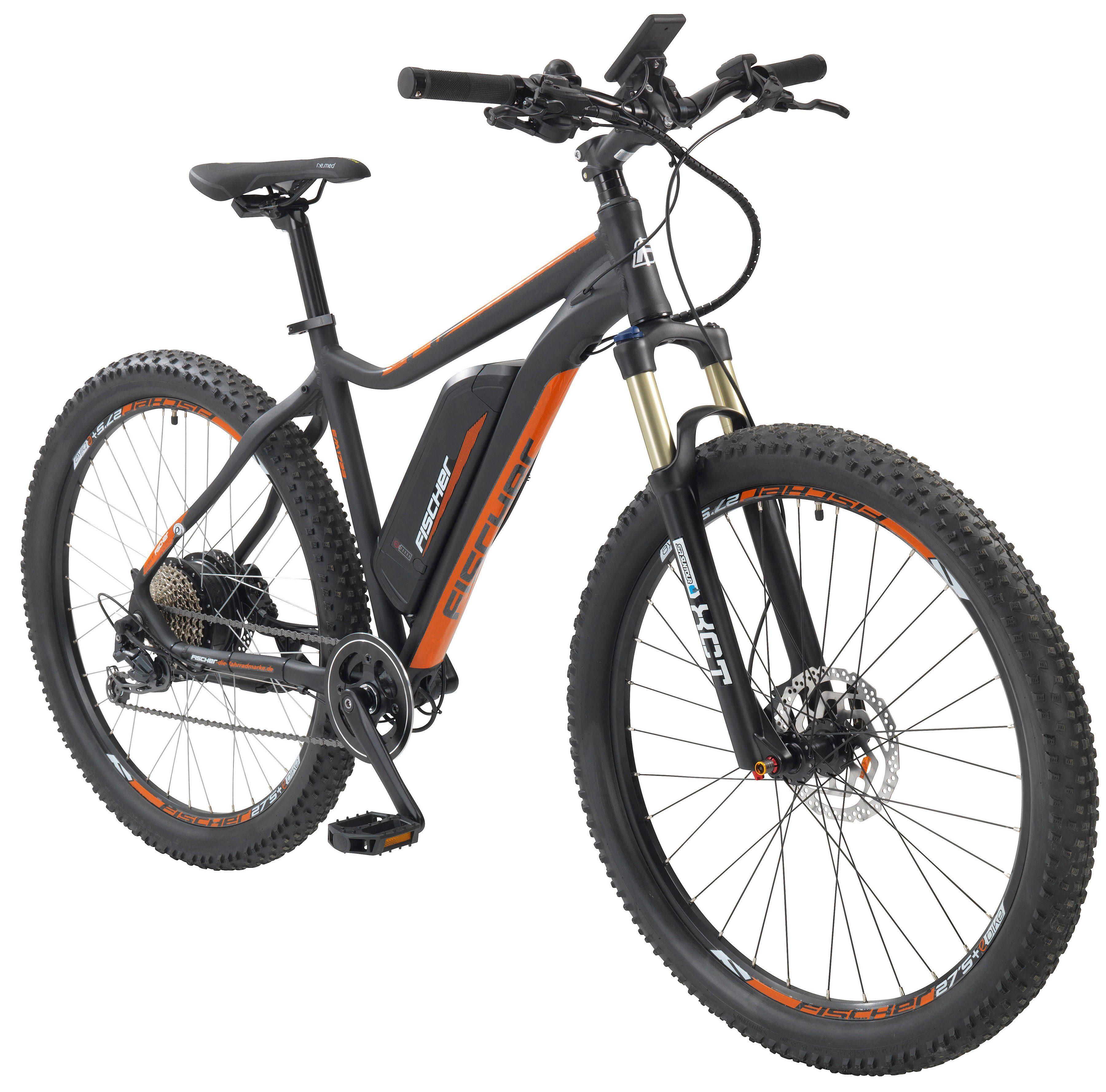 FISCHER FAHRRAEDER E-Bike Mountainbike »EM 1723-S1«, 27,5+ Zoll, 9 Gang, Heckmotor, 557 Wh