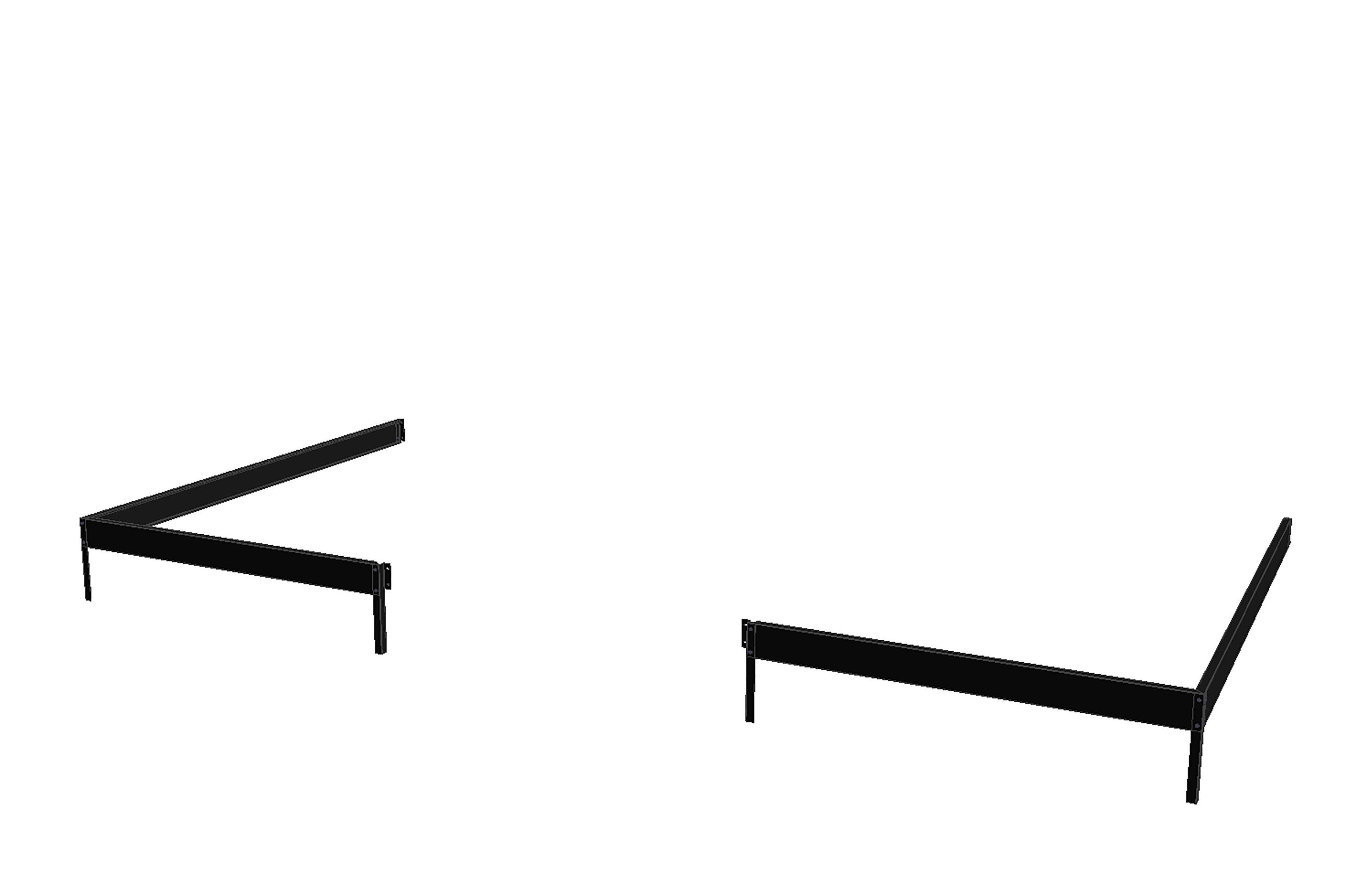 JULIANA Fundamentrahmen , BxL: 296x221 cm, für Gewächshaus »Veranda 6,6« schwarz