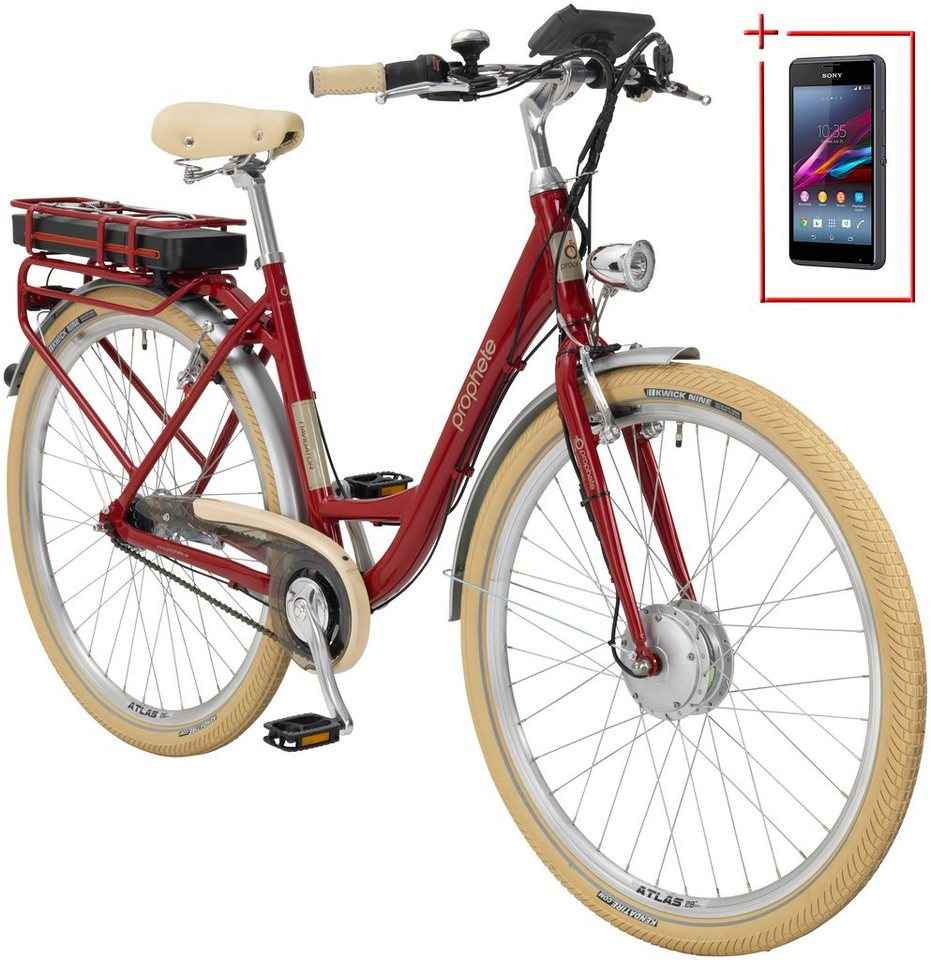 prophete e bike city damen navigator urban retro 28 zoll 7 gang frontmotor 375 wh online. Black Bedroom Furniture Sets. Home Design Ideas