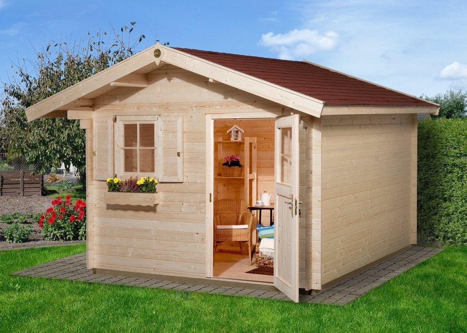 weka gartenhaus gr 1 bxt 300x250 cm natur otto. Black Bedroom Furniture Sets. Home Design Ideas