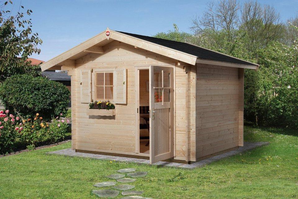weka gartenhaus gr 2 bxt 300x300 cm natur otto. Black Bedroom Furniture Sets. Home Design Ideas