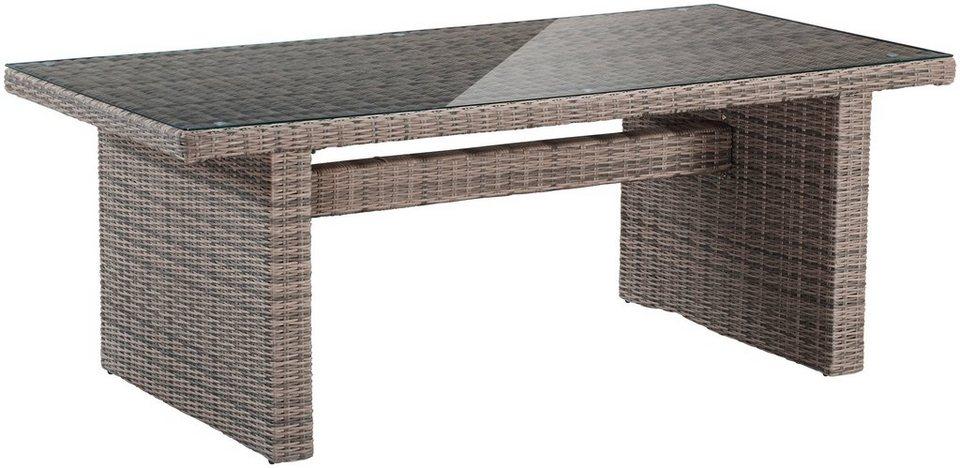 gartentisch riviera polyrattan 200x100 cm 100x200 cm natur online kaufen otto. Black Bedroom Furniture Sets. Home Design Ideas