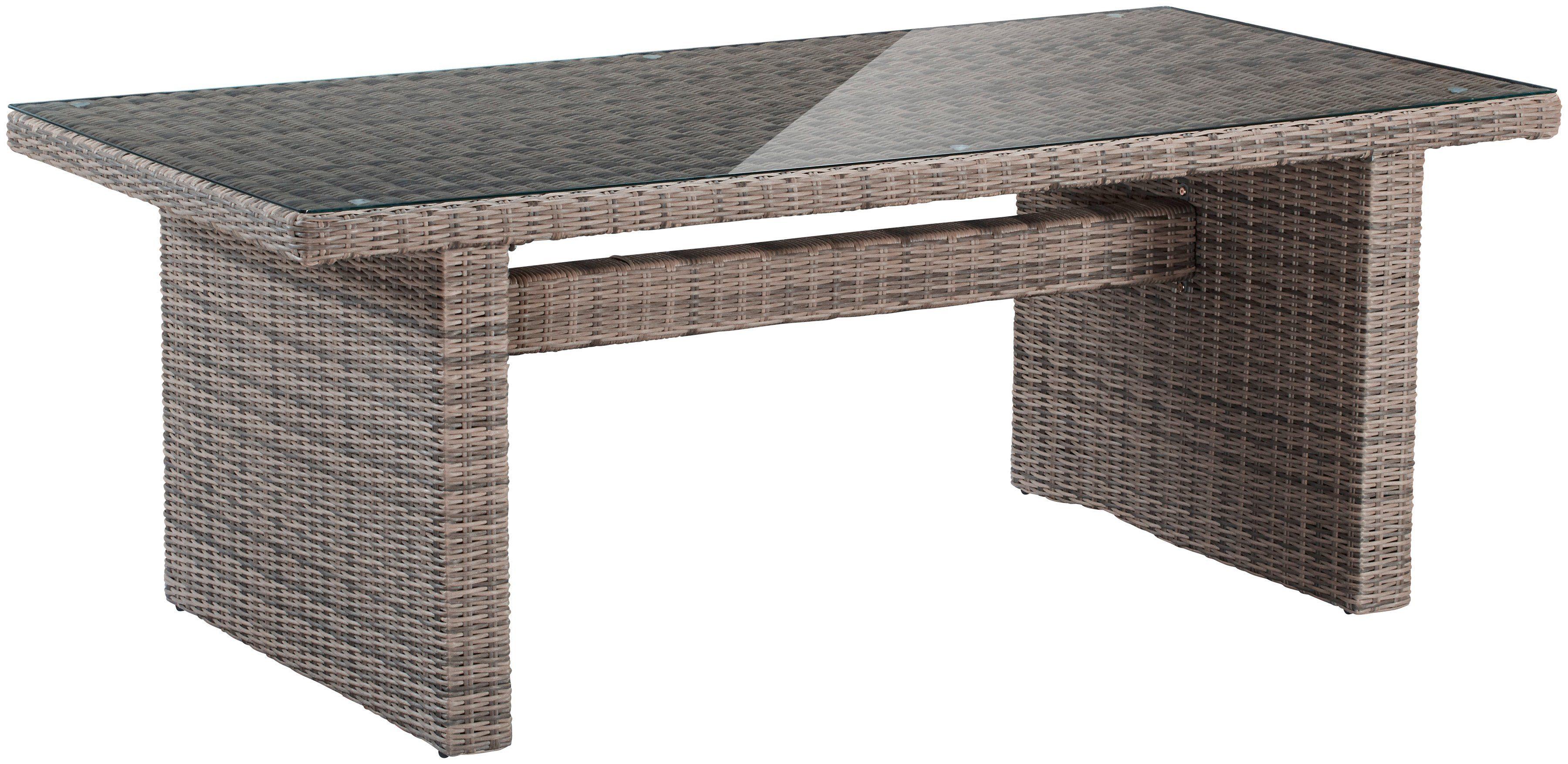 Gartentisch »Riviera«, Polyrattan, 200x100 cm, 100x200 cm, natur