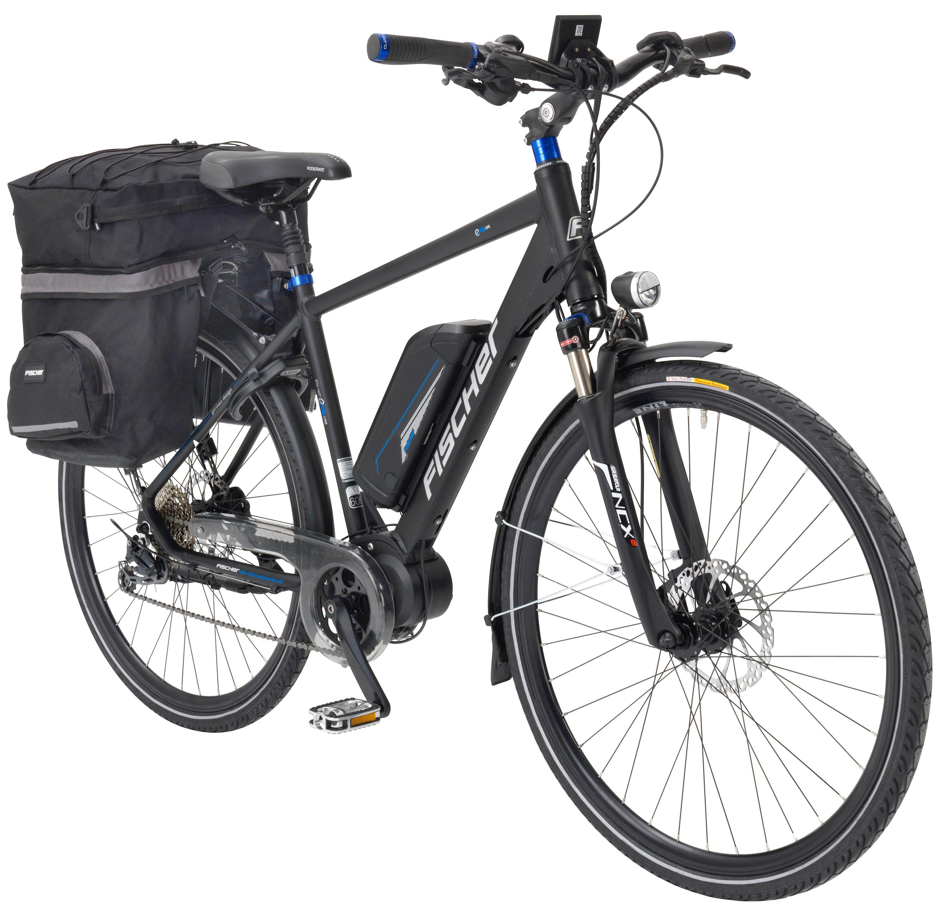 FISCHER FAHRRAEDER E-Bike Trekking Herren »ETH 1607-S2 by Joey Kelly«, 28 Zoll, 9 Gang, Mittelmotor