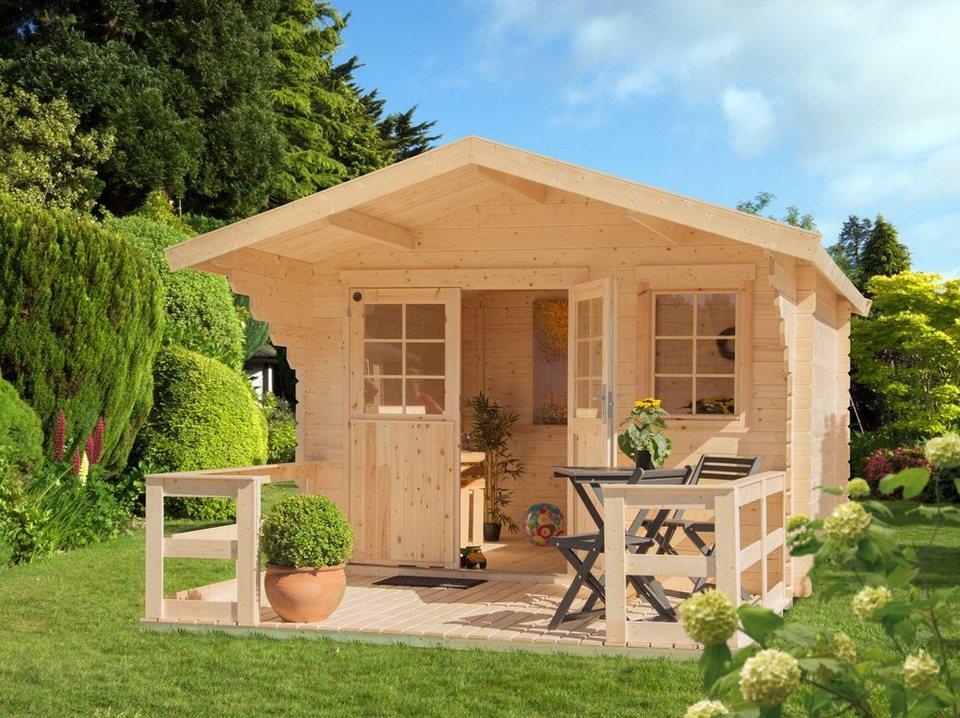 luoman set gartenhaus lillevilla 465 bxt 410x500 cm inkl terrasse vordach und fu boden. Black Bedroom Furniture Sets. Home Design Ideas