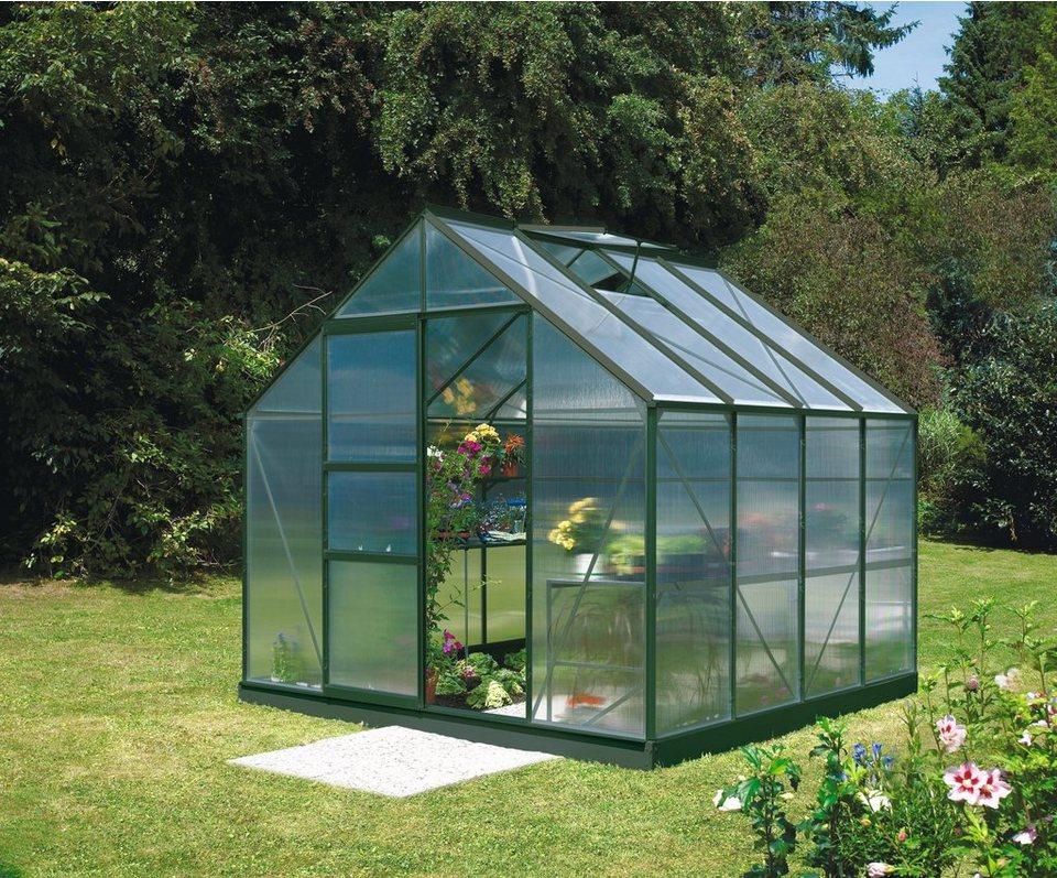 vitavia gew chshaus merkur 6700 bxt 254x254 cm smaragd online kaufen otto. Black Bedroom Furniture Sets. Home Design Ideas