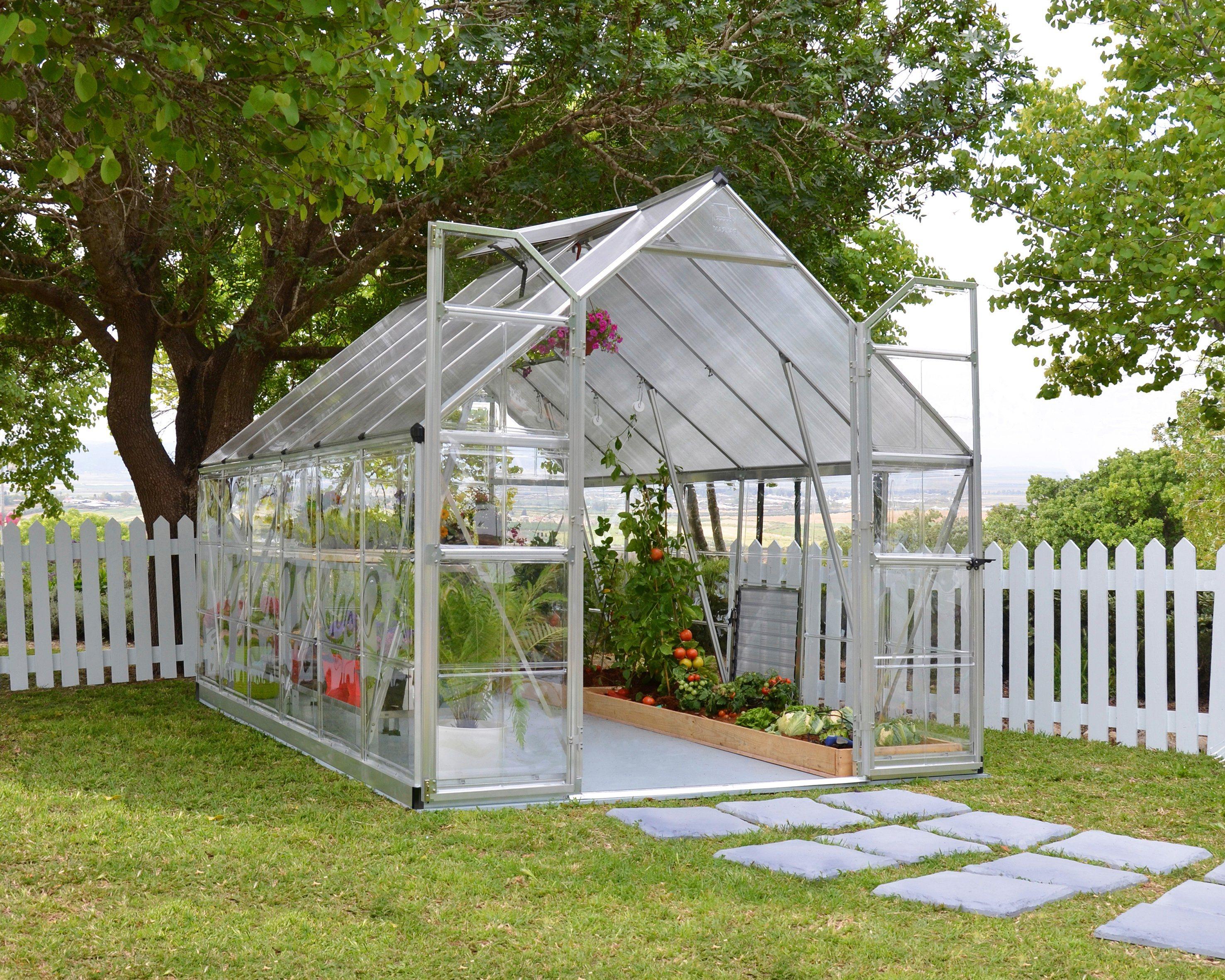 PALRAM Gewächshaus »Balance«, B/T/H: 244/367/299 cm, silberfarben | Garten > Gewächshäuser | Polycarbonat | Palram