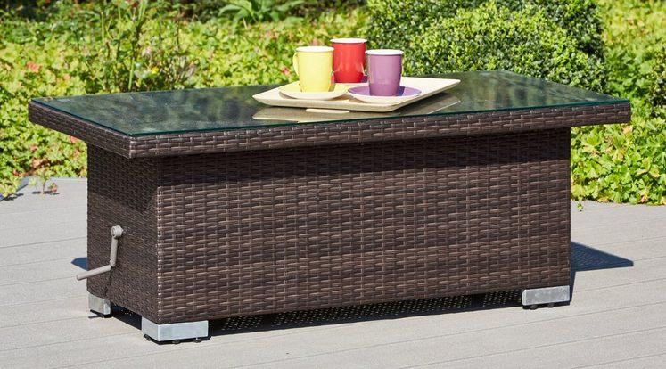 loungetisch bari deluxe polyrattan 120x60 cm braun online kaufen otto. Black Bedroom Furniture Sets. Home Design Ideas