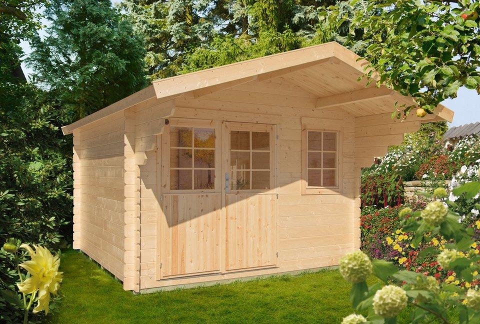 luoman gartenhaus lillevilla 265gr bxt 360x360 cm 28 mm natur online kaufen otto. Black Bedroom Furniture Sets. Home Design Ideas