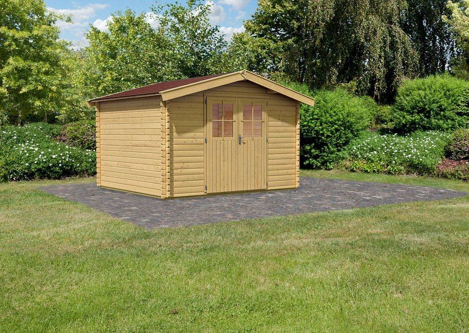 konifera gartenhaus m hlheim 7 bxt 372x462 cm inkl fu boden dachschindeln online kaufen. Black Bedroom Furniture Sets. Home Design Ideas