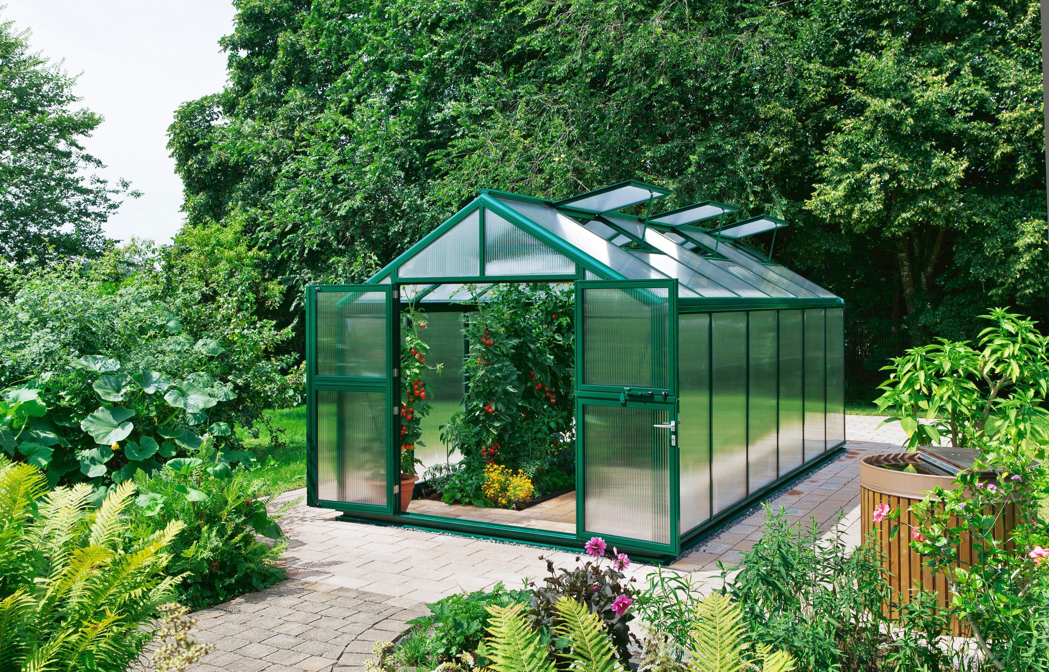 BECKMANN Gewächshaus »Allplanta 6 GE«, BxT: 300x409 cm, grün | Garten > Gewächshäuser | Beckmann
