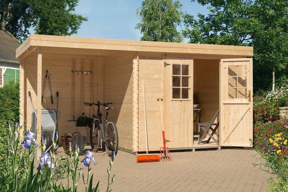 Gartenhaus Fußboden Schrauben ~ Luoman set: gartenhaus »lillevilla 429« bxt: 446x226 cm anbaudach
