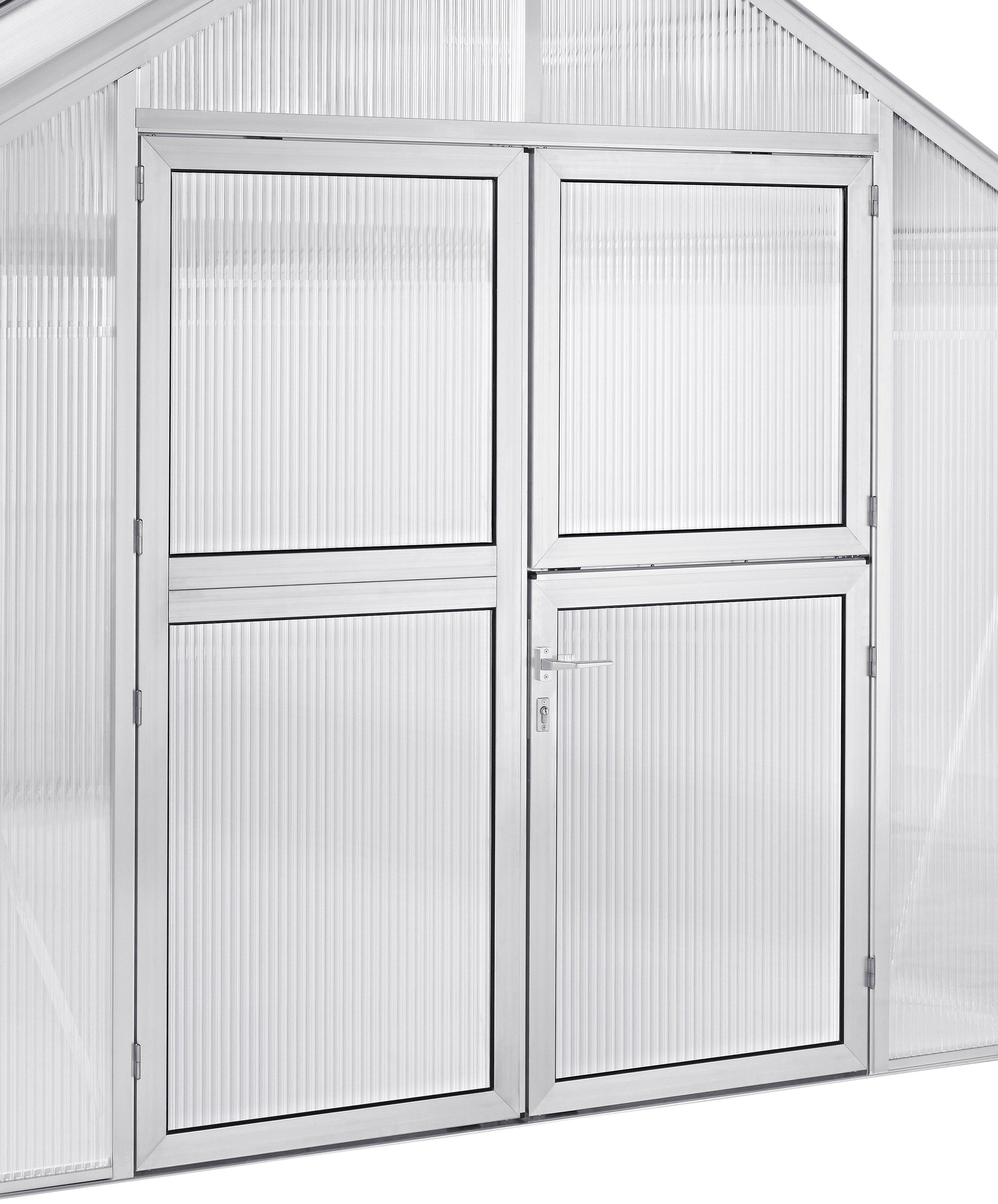 BECKMANN Doppeltür Aluminium, silber, BxH: 165 x 190 cm
