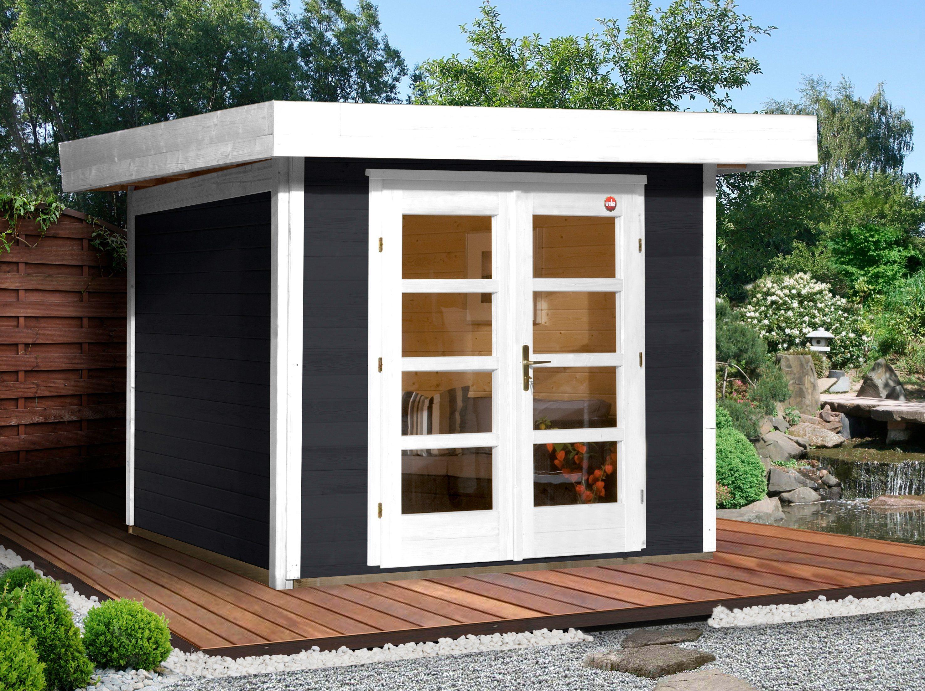 Weka Gartenhaus »Chill-Out Gr. 1«, BxT: 295x210 cm, anthrazit/weiß | Garten > Gartenhäuser | Farbig | weka