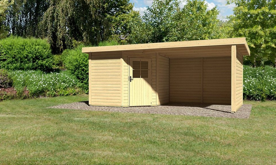 karibu gartenhaus neuruppin 2 gesamtma bxt 539x274 cm inkl anbau online kaufen otto. Black Bedroom Furniture Sets. Home Design Ideas