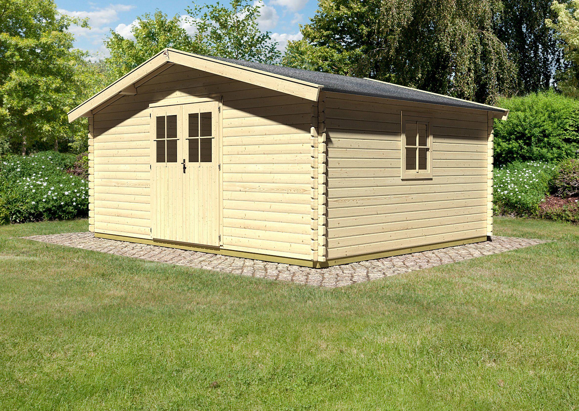 KONIFERA Gartenhaus »Mühlheim 8«, BxT: 462x372 cm, 40 mm, inkl. Fußboden, natur