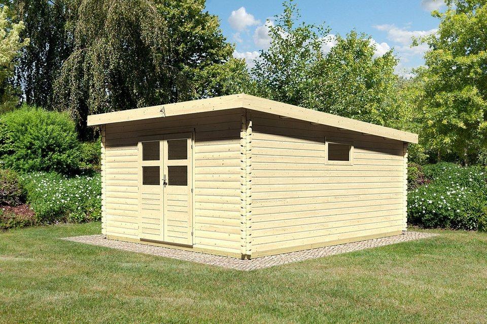 Karibu gartenhaus hildesheim 7 bxt 387x477 cm 40 mm inkl fu boden natur online kaufen otto for Baumarkt hildesheim