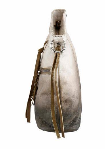 Bruno Banani Umhängetasche PARADISO, Crossbody Bag, aus echtem Leder