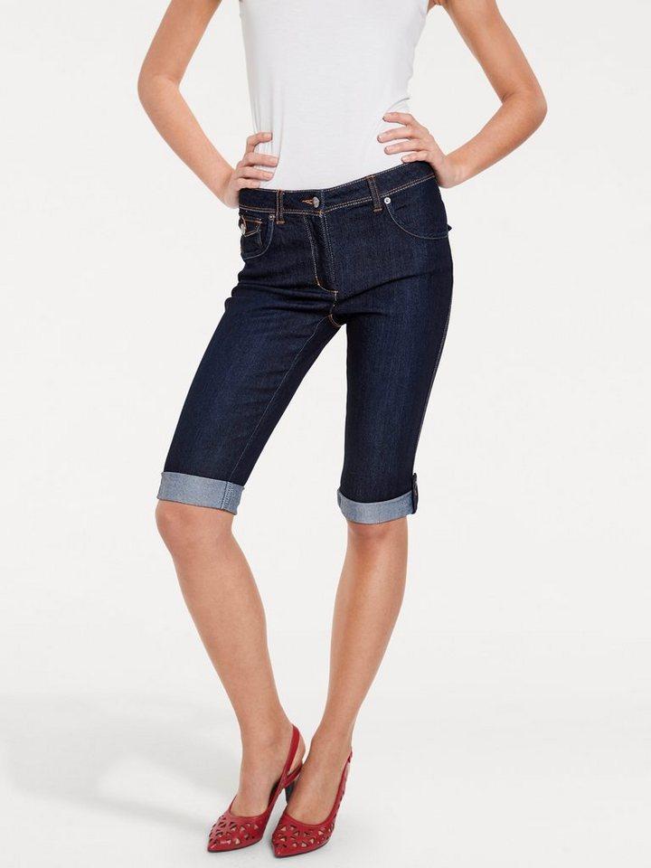 ASHLEY BROOKE by Heine Bodyform-Capri-Jeans zum Krempeln in dark used