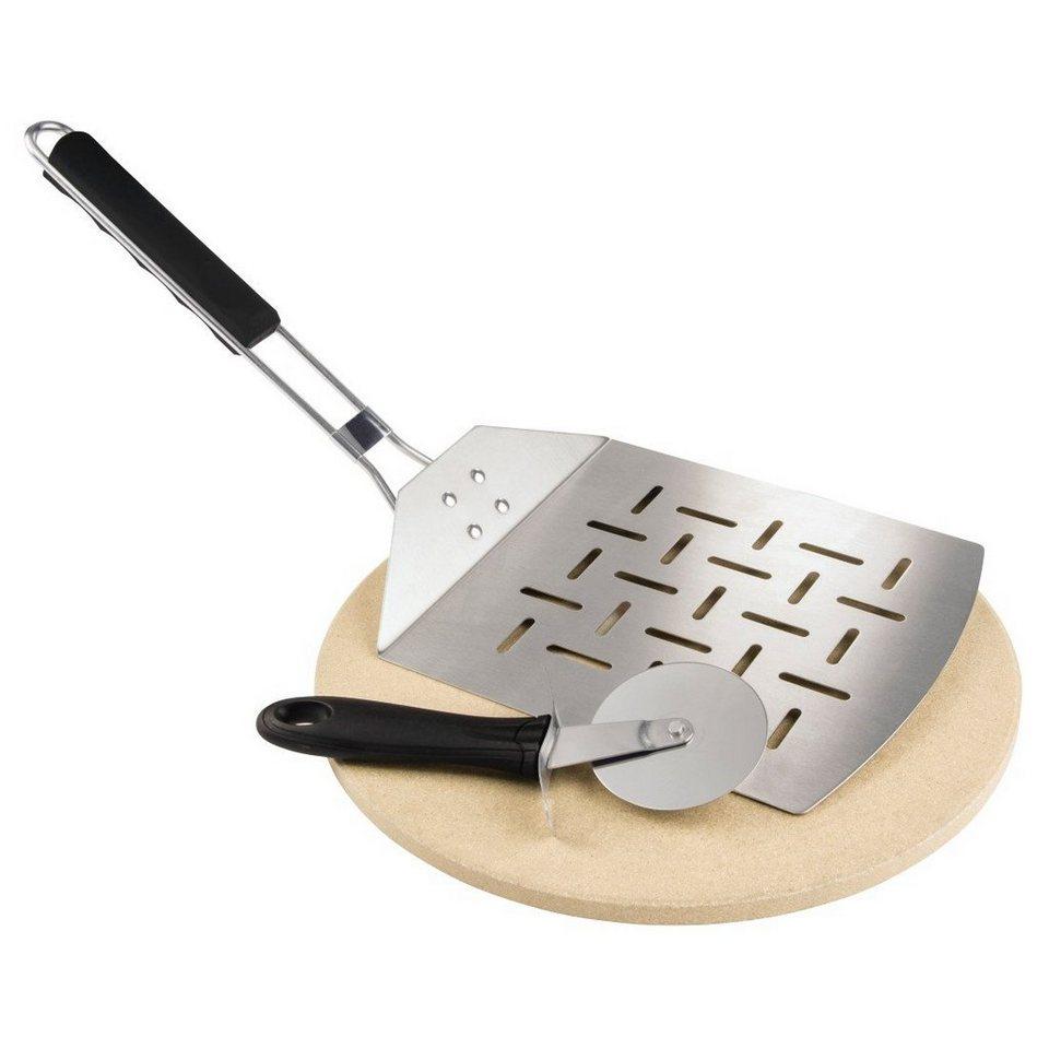 xavax pizza set 3 teilig pizzastein pizzaschneider pizzaheber f r grill und backofen 28 cm. Black Bedroom Furniture Sets. Home Design Ideas