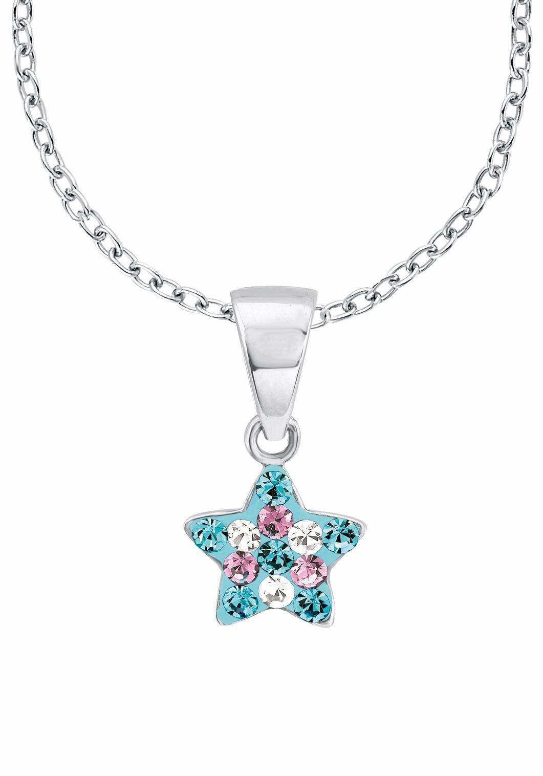 Prinzessin Lillifee Silberkette »Stern, 2013183« mit Kristallsteinen