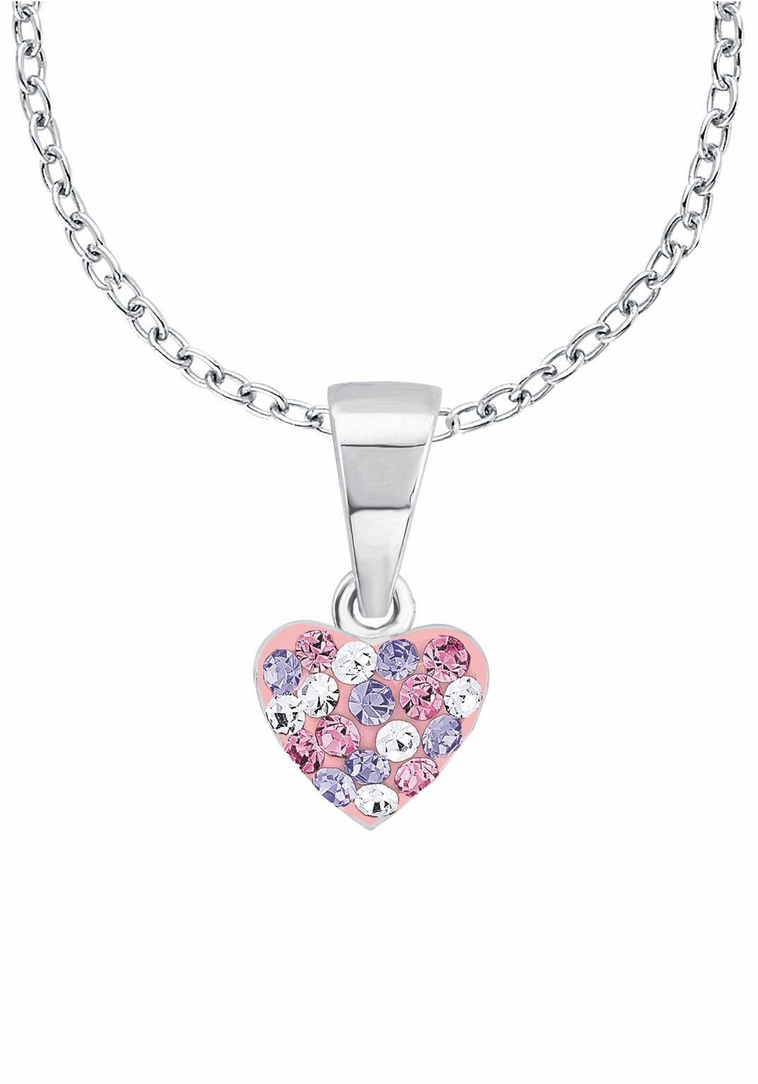 Prinzessin Lillifee Silberkette »Herz, 2013171« mit Kristallsteinen