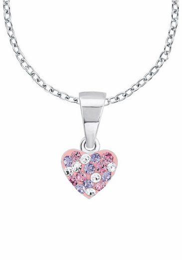 Prinzessin Lillifee Silberkette »Herz, 2013171«, mit Kristallsteinen