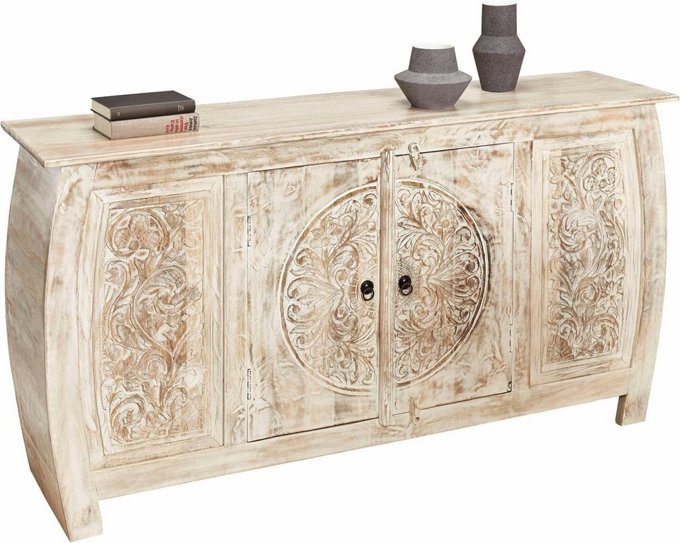 home affaire sideboard mit schnitzerei breite 166 cm online kaufen otto. Black Bedroom Furniture Sets. Home Design Ideas