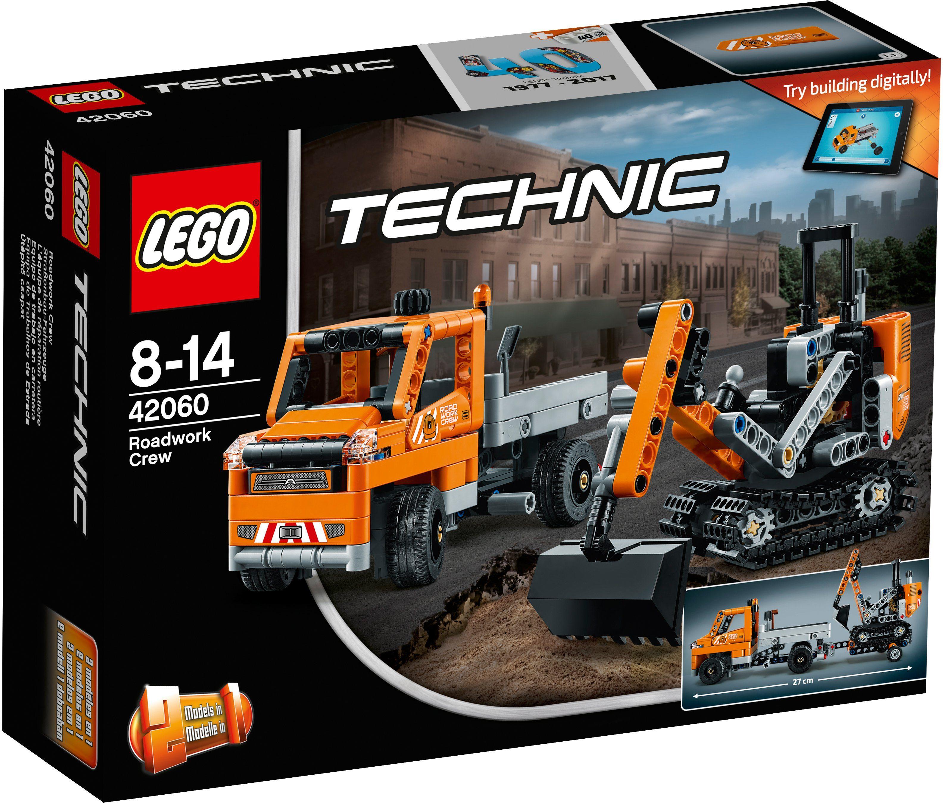 LEGO®, 2-in-1 Modell Straßenbau Fahrzeuge (42060), »LEGO® Technic«
