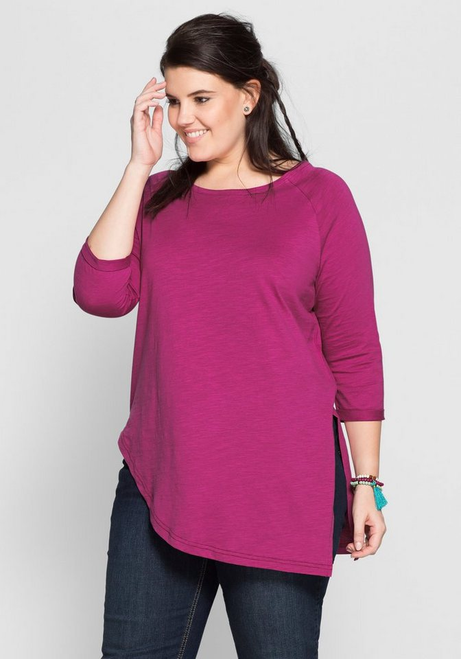 sheego Casual Shirt in leichter Oversize-Form in magenta
