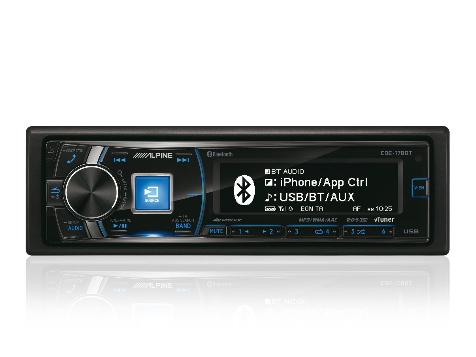 ALPINE 1-DIN CD-Tuner »CDE-178BT«