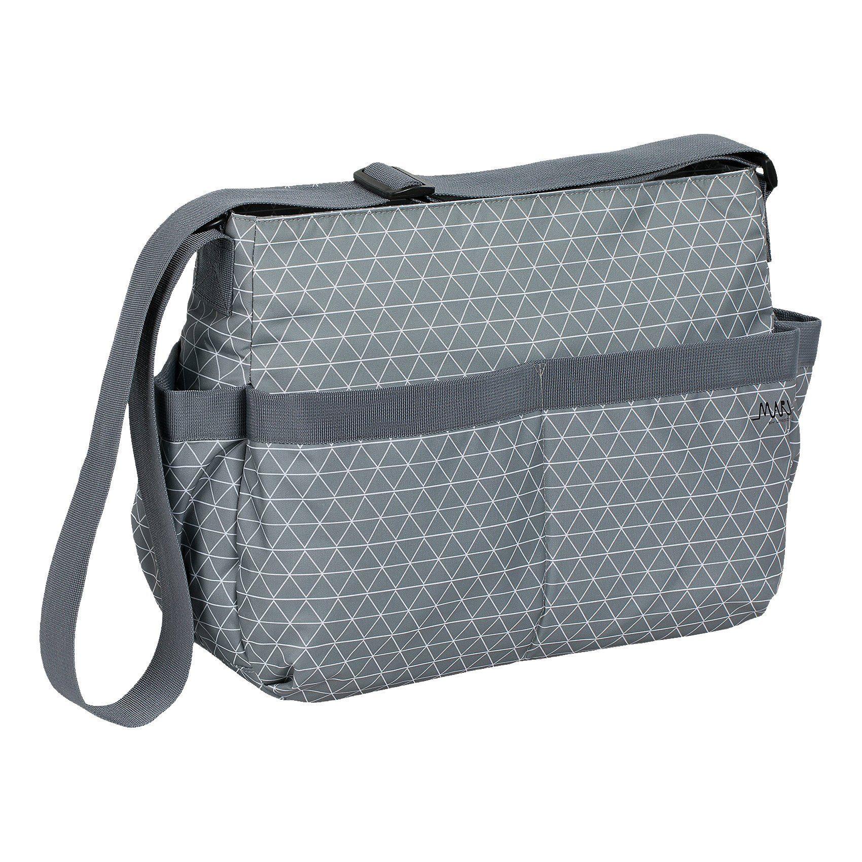 Lässig Wickeltasche Marv, Shoulder Bag, Tiles grey