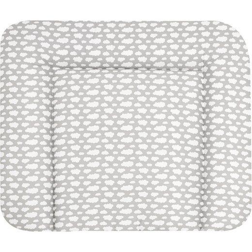 Alvi® Wickelauflage Stoff beschichtet, Wolke silber, 70 x 85 cm