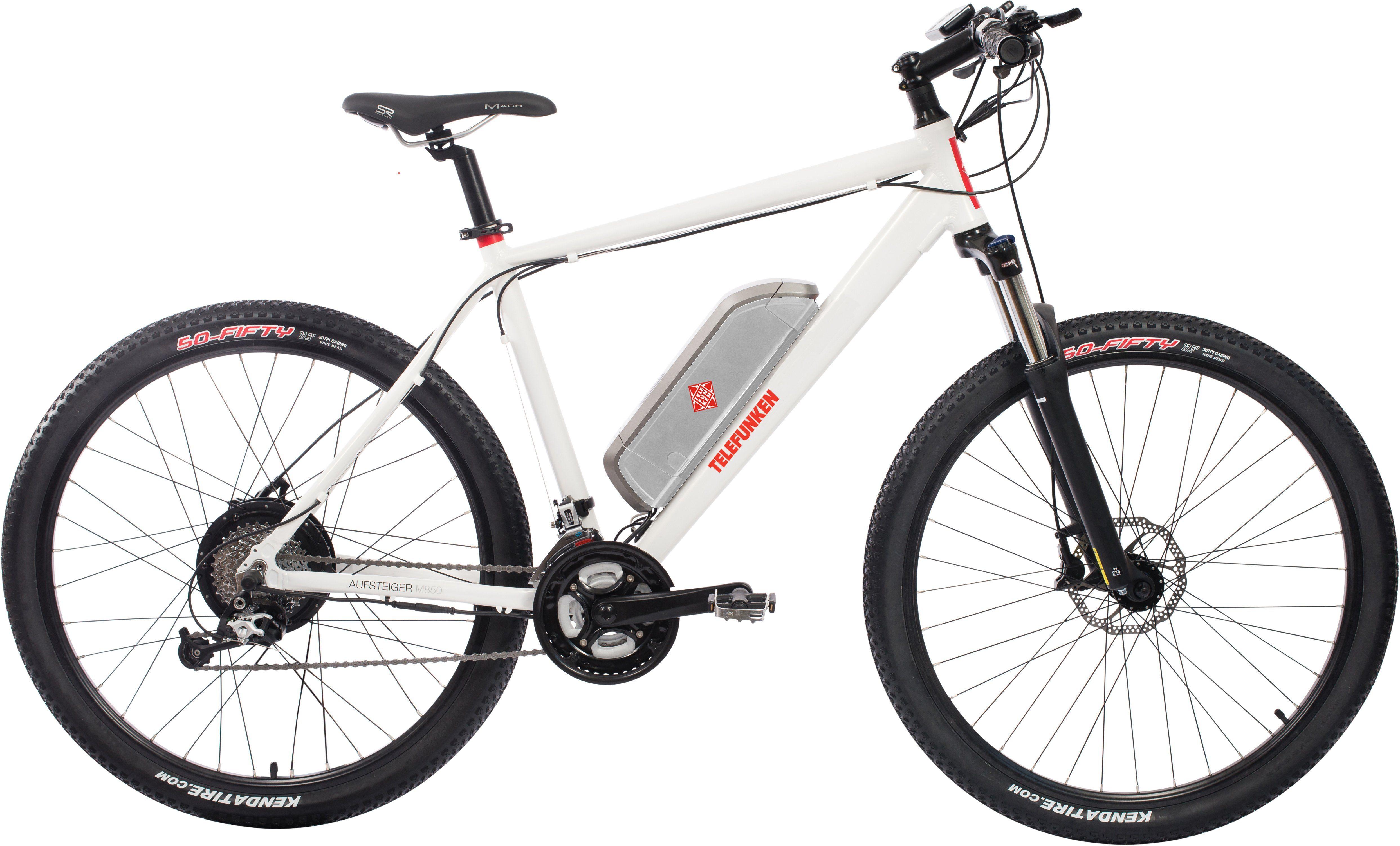 Telefunken E-Bike »Aufsteiger M850«, 27 Gang Shimano Nexus Schaltwerk, Kettenschaltung, Heckmotor 250 W